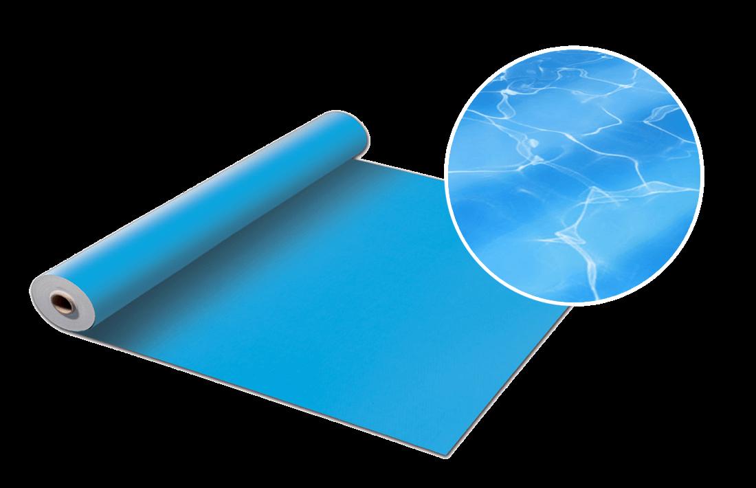 Blå liner till pool