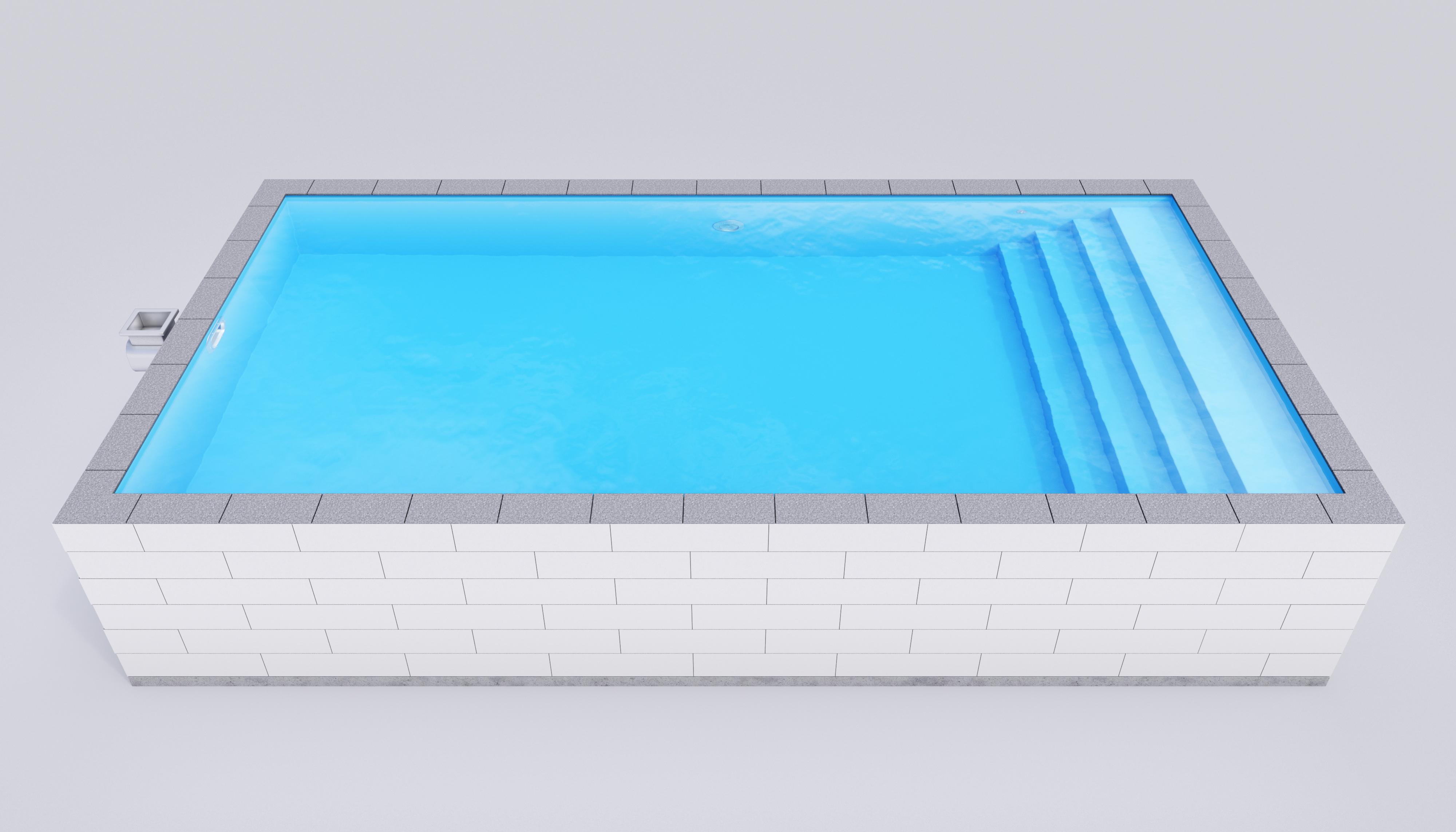 en thermopool är i block och enkel att bygga själv